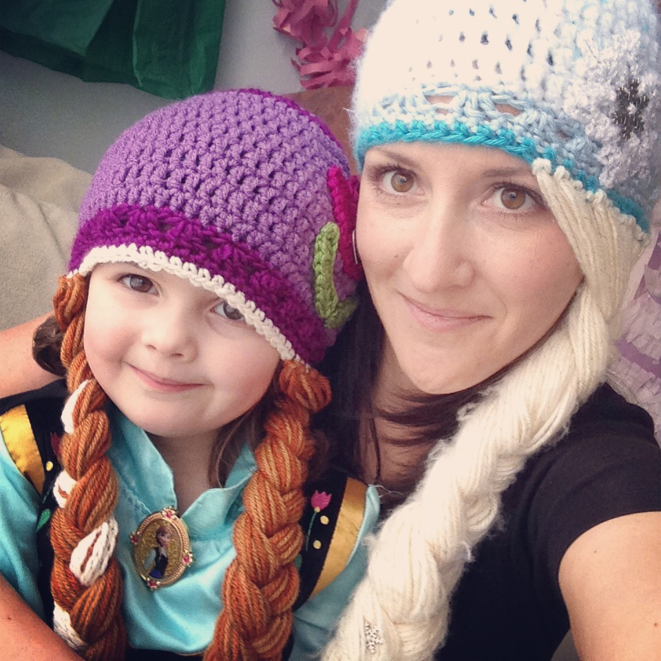 Crochet Elsa Hair Hat : So, do you wanna build a snowman????